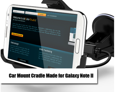 Car Mount Cradle for Samsung Galaxy Note II